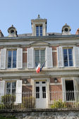 Val d Oise, the city hall of Wy dit Joli Village — Stock Photo