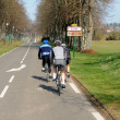 Cyclists on a country road in Val d Oise — Foto de Stock