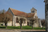 The old church of Wy dit Joli Village — Stock Photo