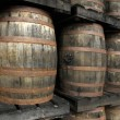 Stock Photo: Rum barrels