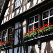 Old house in the district of La Petite France in Strasbourg - Stock Photo