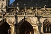France, gothic collegiate church of Poissy — Stock Photo