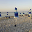 Parasol on the beach - Stock Photo