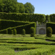 French formal garden of Villandry castel — Stok fotoğraf