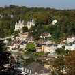 France, the small city of Pierrefonds in Picardie — Stock Photo