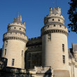 France, castle of Pierrefonds in Picardie — Stock Photo