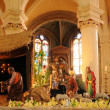 France, nativity scene in Triel-sur-Seine church — Stock Photo