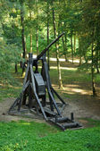 France, siege machine in the castle of Pierrefonds — Stock Photo