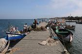 Bark in Torreira fishing port in Portugal — Stock Photo