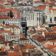 Stock Photo: Portugal, Lisbon view from Saint George castle