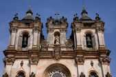 The façade of Alcobaca monastery in Portugal — Foto Stock