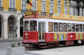 Portugal, the touristy old tramway in Lisbon — Foto Stock
