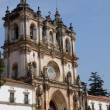 The façade of Alcobaca monastery in Portugal — Stock Photo