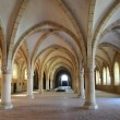 Stock Photo: Dormitory of Alcobacmonastery in Portugal
