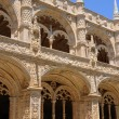 Portugal, cloister of Jeronimos monastery in Lisbon - Stock Photo