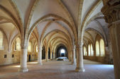 The dormitory of Alcobaca monastery in Portugal — Stock Photo