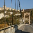 Royalty-Free Stock Photo: France, suspension bridge of Les Andelys in Normandie