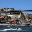 Portugal, view of Porto from Douro river — Stock Photo #9082736