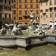 Italian architecture, fountain on Piazza Navona in Roma — Stock Photo #9083971