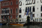 Italian architecture, old palace facade in Venice — Stock Photo