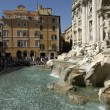The famous trevi fountain or fontana di trevi in rome - Stock Photo
