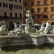 Italian architecture, fountain on Piazza Navona in Roma — Stock Photo