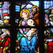 Stockfoto: France, stained glass window in church Saint Martin of Triel