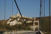 France, suspension bridge of Les Andelys in Normandie — Stock Photo