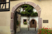 France, the small village of Riquewihr in Alsace — Stock Photo