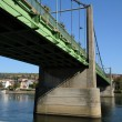 Stock fotografie: France, suspension bridge of Triel Sur Seine