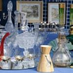Old objects on a flea market — Stock Photo