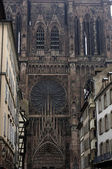 France, cathedral of Strasbourg in Alsace — Stok fotoğraf