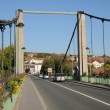 Stockfoto: France, suspension bridge of Triel Sur Seine
