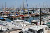 Gironde, sailing ships in the port of Arcachon — Foto Stock