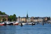 De stad van stockholm, zweden en de baltische zee — Stockfoto