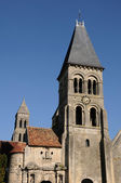 France, the gothic church of Morienval in Picardie — Stock Photo