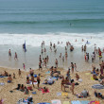 France, the beach of Lacanau Ocean In Gironde — Stock Photo