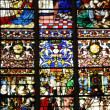 Cathedral stained glass window of Rouen in Normandy — Stock Photo