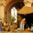 France, nativity scene in Triel-sur-Seine church - Stock Photo
