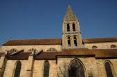 Ile de France, the old church of Jouy Le Moutier — Stock Photo