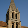 Ile de France, the old church of Jouy Le Moutier — Stock Photo #9810480