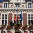 France, historical city hall of Villers ur Mer — Stock Photo #9861349