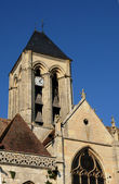Ile de France, the gothic church of Vetheuil — Stock Photo