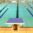 Stock Photo: France, interior of a swimming pool in Dourdan