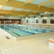 France, interior of a swimming pool in Dourdan — Stock Photo