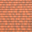 Horizontal picture of tiles on a roof — Stock Photo