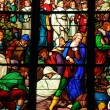 Stock Photo: France, stained glass window in cathedral of Pontoise