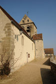 Ile de France, the old church of Courdimanche — Stock Photo