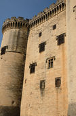 France, medieval castel of Tarascon in Provence — Stock Photo