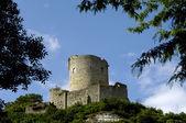 France, La Roche Guyon, keep of the 12 century — Stock Photo